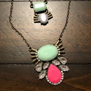 Jewelry - Statement Piece Jeweled Necklace